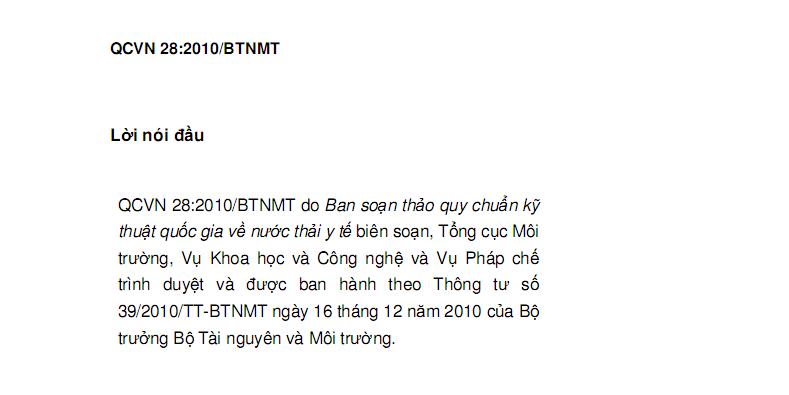 QCVN28:2010/BTNMT-2