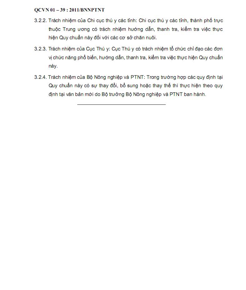QCVN01-39:2011/BNNPTNT về vệ sinh nước dùng trong chăn nuôi