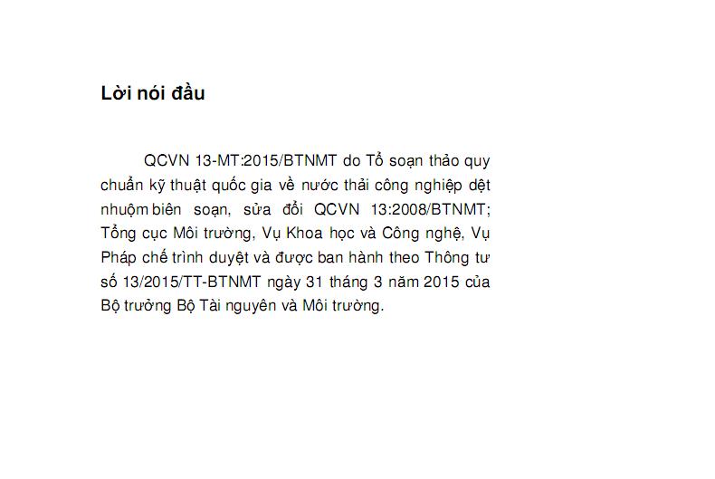 QCVN13-MT:2015/BTNMT-2